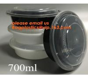 Quality white disposable plastic salad bowl,PLA 16oz 500ml plastic - disposable salad bowl with lid,PP disposable clear plastic wholesale