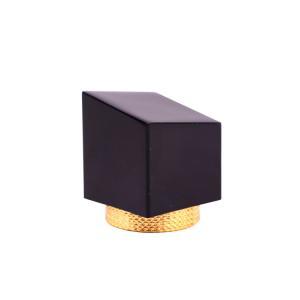 Quality 30*37mm Irregularity Square Perfume Bottle Lids Metal Type wholesale