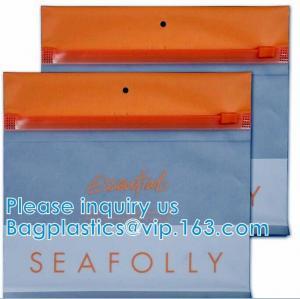 Quality Zipper Pouch Plastic Cosmetic Bag Pouch Vinyl Slider Zipper Bag, Travel Toiletry Cosmetic Bag, Zipper MakeUp Pouch wholesale