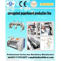Quality 2 Layer Corrugated Paperboard Making Machine 0 - 60 m / min With Clamping Arm wholesale