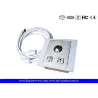 Quality Panel Mounted Industrial Pointing Device Stainless Steel Trackball Left Right Click Buttons wholesale