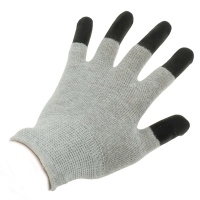 Quality Antistatic Cleanroom Lab 10e7 Ohms ESD Dotted Gloves wholesale