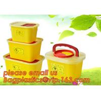 Quality BIOHAZARD WASTE CONTAINERS, PLASTIC STORAGE BOX, MEDICAL TOOL BOX, SHARP CONTAINER, SAFETY BOX, Disposable Hospital Bioh wholesale
