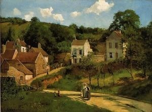 Cheap Impressionist(3830) L-Hermitage_at_Pontoise for sale