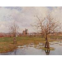 Quality Impressionist(3830) Landscape_with_Flooded_Fields wholesale
