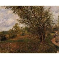 Impressionist(3830) Pontoise_Landscape,_Through_the_Fields