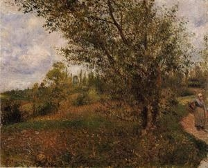 Cheap Impressionist(3830) Pontoise_Landscape,_Through_the_Fields for sale