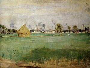 Cheap Impressionist(3830) Landscape_at_Gennevilliers for sale