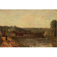 Quality Impressionist(3830) The_Banks_of_the_Seine_at_Bougival wholesale