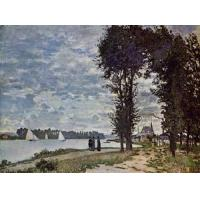 Quality Impressionist(3830) The_Banks_of_the_Seine_at_Argenteuil wholesale