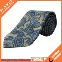 Quality fashion blue color printed paisley tie wholesale