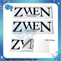 Quality Pvc transparent clear adhesive stickers wholesale