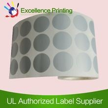 Cheap PET adhesive silver sticker for sale