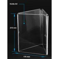 Quality Acrylic Table Tent Clear acrylic A5 menu holder with three sides wholesale
