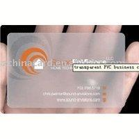 Quality clear card wholesale