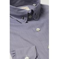 Quality Pin Collar Shirt Navy Check wholesale