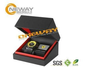 Cheap Customized Men'S Style Watch Packaging Box With Hot Stamping Gold Logo for sale