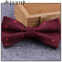 Quality stock low moq 10 extra long burgundy bow tie wholesale