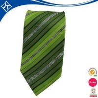 Quality high quality custom color green stripe tie wholesale