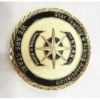 Quality Brass Gold Customize Challenge Coins Souvenirs With Diamond Cut Edge wholesale