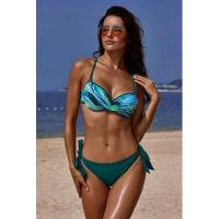 Quality Green Printed Top Self-tie Panty Swimwear #LC411053-9 wholesale