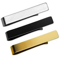 Quality custom logo metal men tie bar clips with gift box wholesale