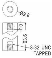 PCB Support Round Tapped Nylon Spacer